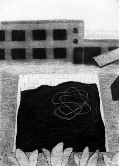 Allas (luonnos) / Pool (sketch) - 2013